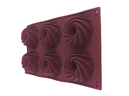 6 molde para pasteles de la torta de la torta de moldes de silicona molde para