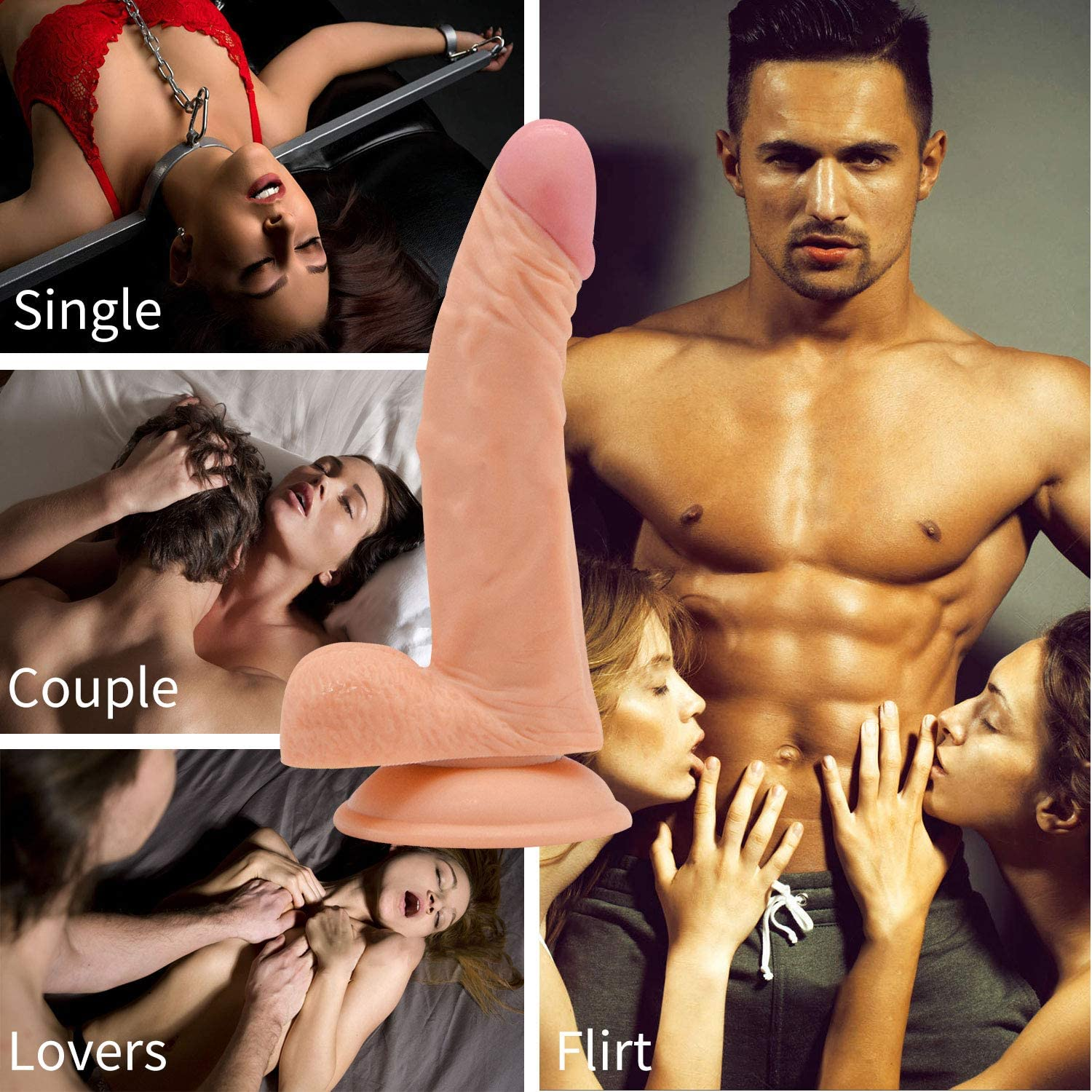 8 Inches Soft Flesh Item Used for Couple in Everywhere You Wanted