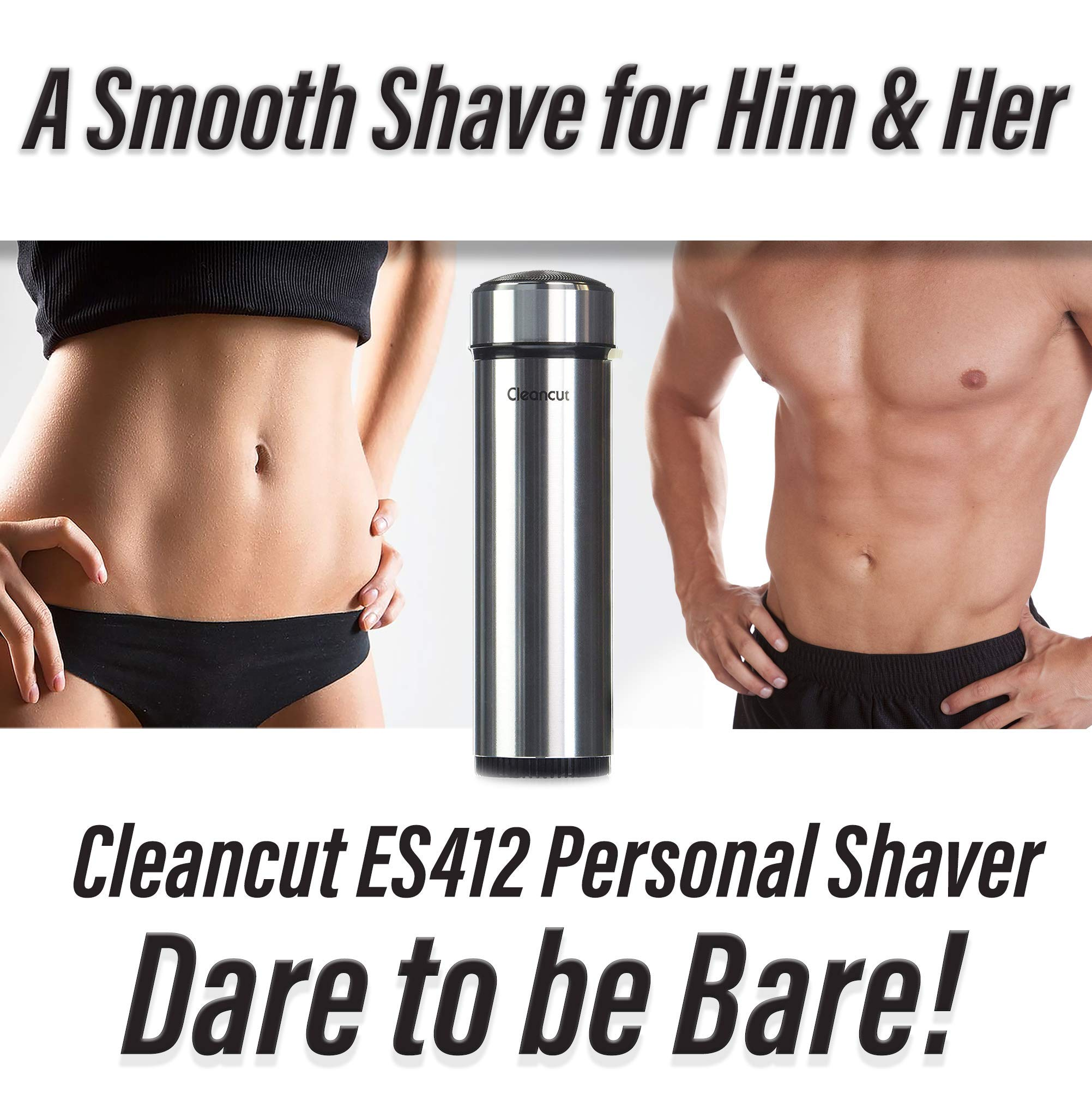 Cleancut - ES412 - Intimate and Sensitive Area Shaver - Designed for both Men and Women by CLEANCUT