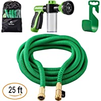 Sosoon Garden Hose Expanding Extra Strength Stretch Material Water Hose with All Brass Connectors