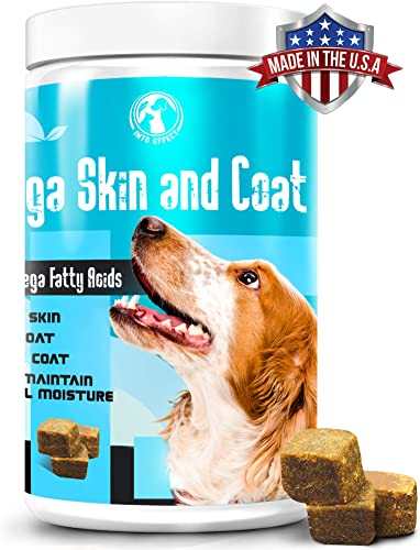 Into Effect Salmon Oil for Dogs – Omega 3 for Dogs – Soft Chews for Cats and Dogs – Dog Fish Oil Supplement with Natural Fatty Acids EPA DHA – Omega 3 6 9 for Dogs