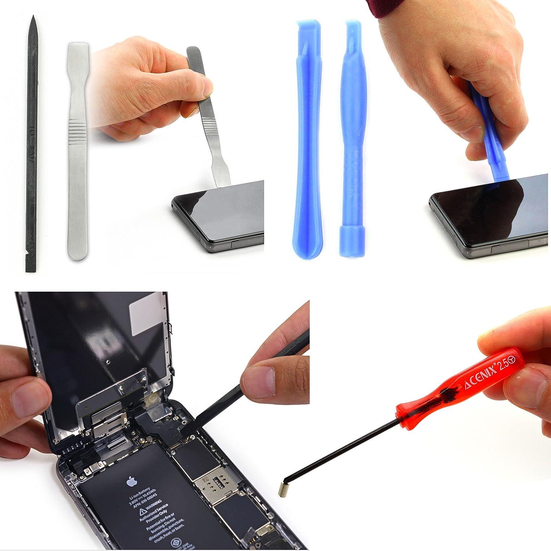 MacBook muy bien valorado Smartphone Android Laptop iPod Samsung iPad ACENIX/® 24/en 1/Juego de destornilladores de precisi/ón para iPhone