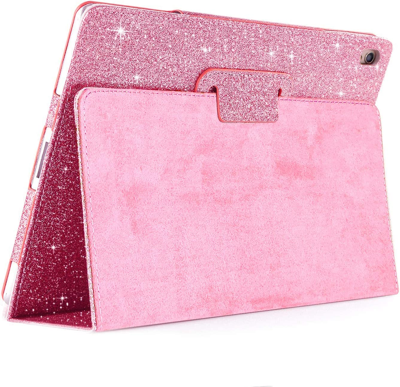 FANSONG iPad Air 3 2019 Case/iPad Pro 10.5-inch Case, Glitter Sparkle Leather Folio Stand Smart Cover [Auto Wake/Sleep] Case for iPad Air 3rd Generation 2019, Pink