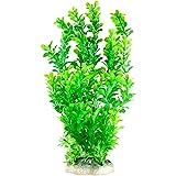 CNZ 水族箱装饰鱼缸装饰装饰仿真塑料植物绿色 14英寸