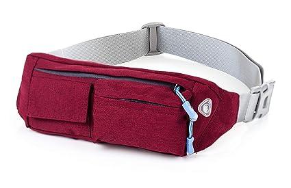 bf20c56c3 Cangurera Premium color Rojo perfecta para viajar/ Cinturón deportivo con 4  bolsas perfecto para hacer