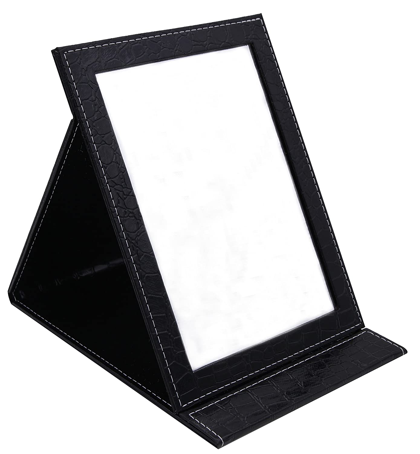 Famiry Large Portable Folding Mirror with Standing for Making Up, Black