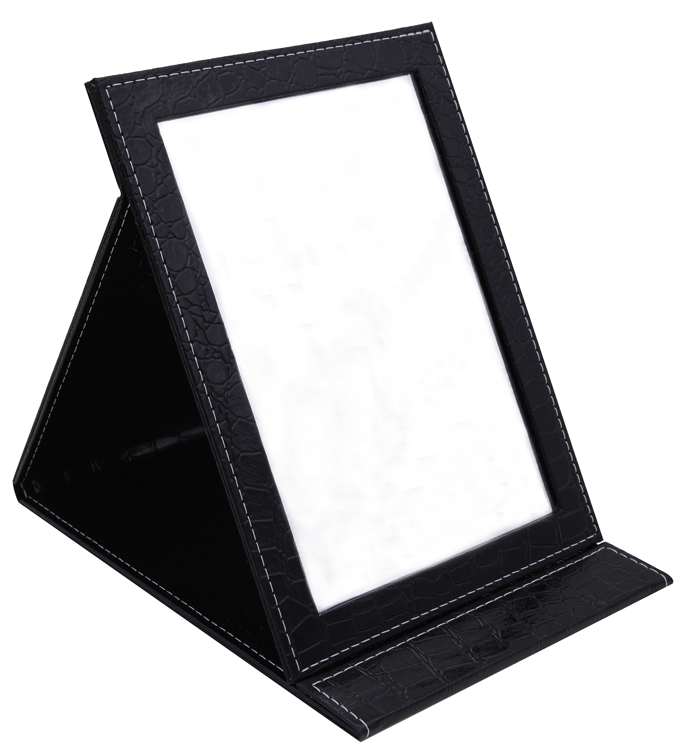 Famiry Large Portable Folding Mirror with Standing for Making Up, Black by March 6th