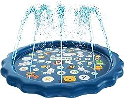 SplashEZ 3-in-1 Sprinkler for Kids, Splash Pad, and Wading Pool for Learning – Children's Sprinkler Pool, 60''...