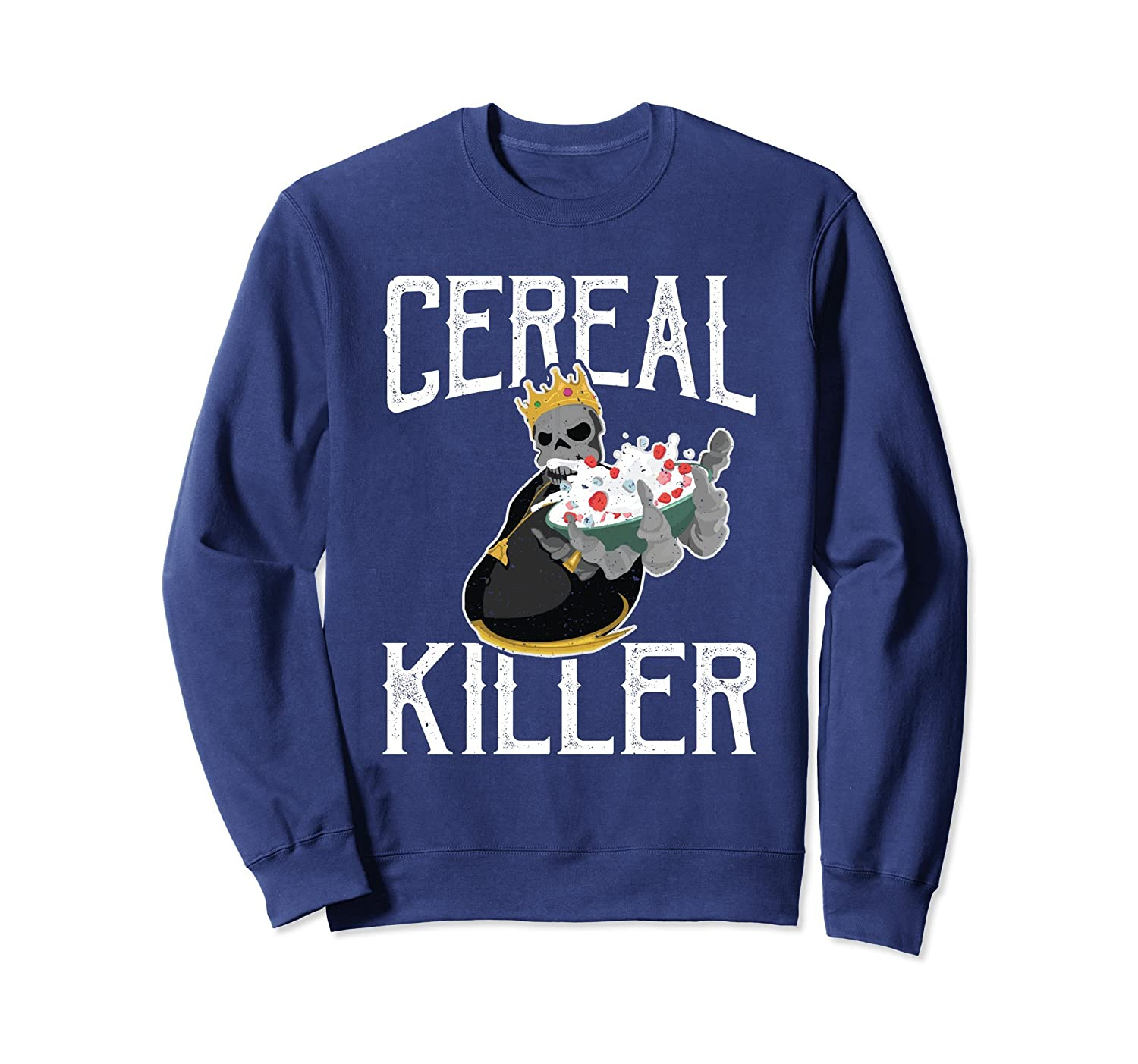 d4597f6d Amazon.com: Vintage Cereal Killer Funny Food Lover Sweat Shirt: Clothing