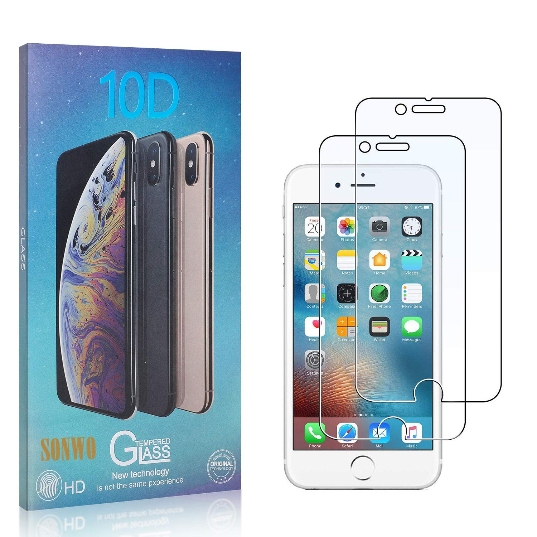 9H H/ärte Panzerglasfoli HD Ultra-Klar Schirm Displayschutzfolie SONWO Schutzfolie Panzerglas Kompatibel mit iPhone SE 2020 // iPhone 8 // iPhone 7 2 St/ück