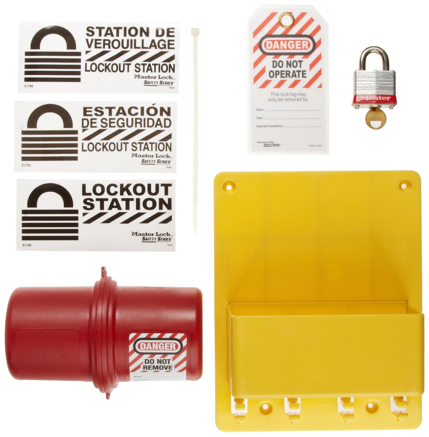 Master Lock Electrical Plug Lockout Center, Includes 1 Steel Padlock