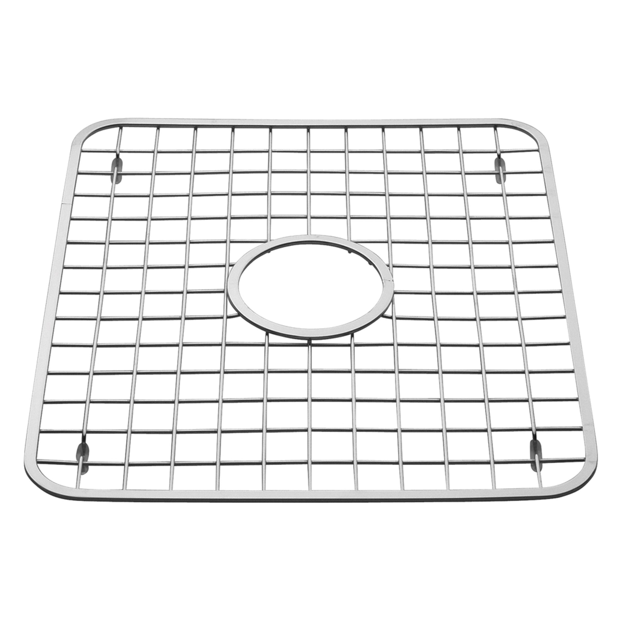 interdesign gia kitchen sink protector wire grid mat with center drain hole polished complete. Black Bedroom Furniture Sets. Home Design Ideas