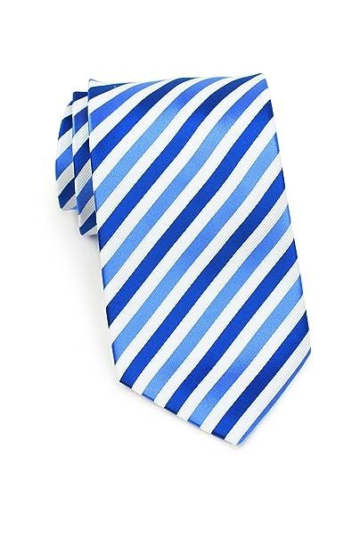 15b735082f66 Bows-N-Ties Men's Necktie Bright Stripe Microfiber Tie Satin 3.25 Inches ( Bright