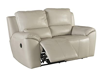 Ashley Furniture Signature Design   Reclining Loveseat   Sleek Contemporary  Couch   Cream
