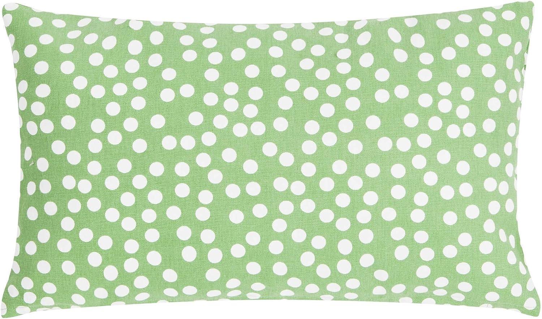 Linen /& More Coussin d/écoratif en Coton Vert 30 x 50 cm