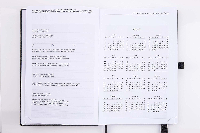 Agenda 2020 Día por Página A5 - Diaria Vista Planificador ...