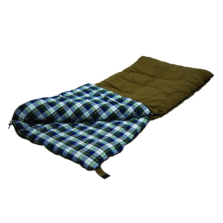 Stansport White Tail 5 Lb. Rectangular Sleeping Bag, 78 x 36 – Brown