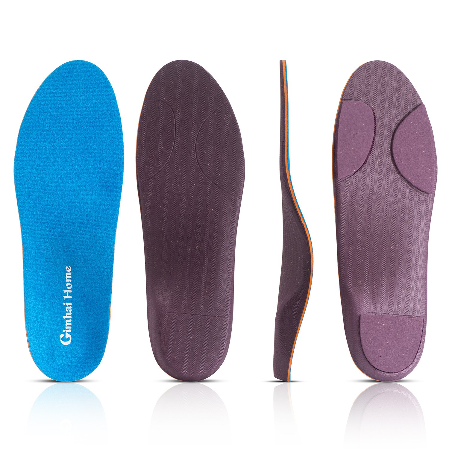 Orthotics Arch Support Shoes Insoles/Inserts for Pronation,Supination,Flat Feet,Plantar Fasciitis,Heel Pain,Foot Pain,Bunion for Men and Women (US MEN(4-4.5)-WOMEN(6-6.5)-9.06''-230MM)