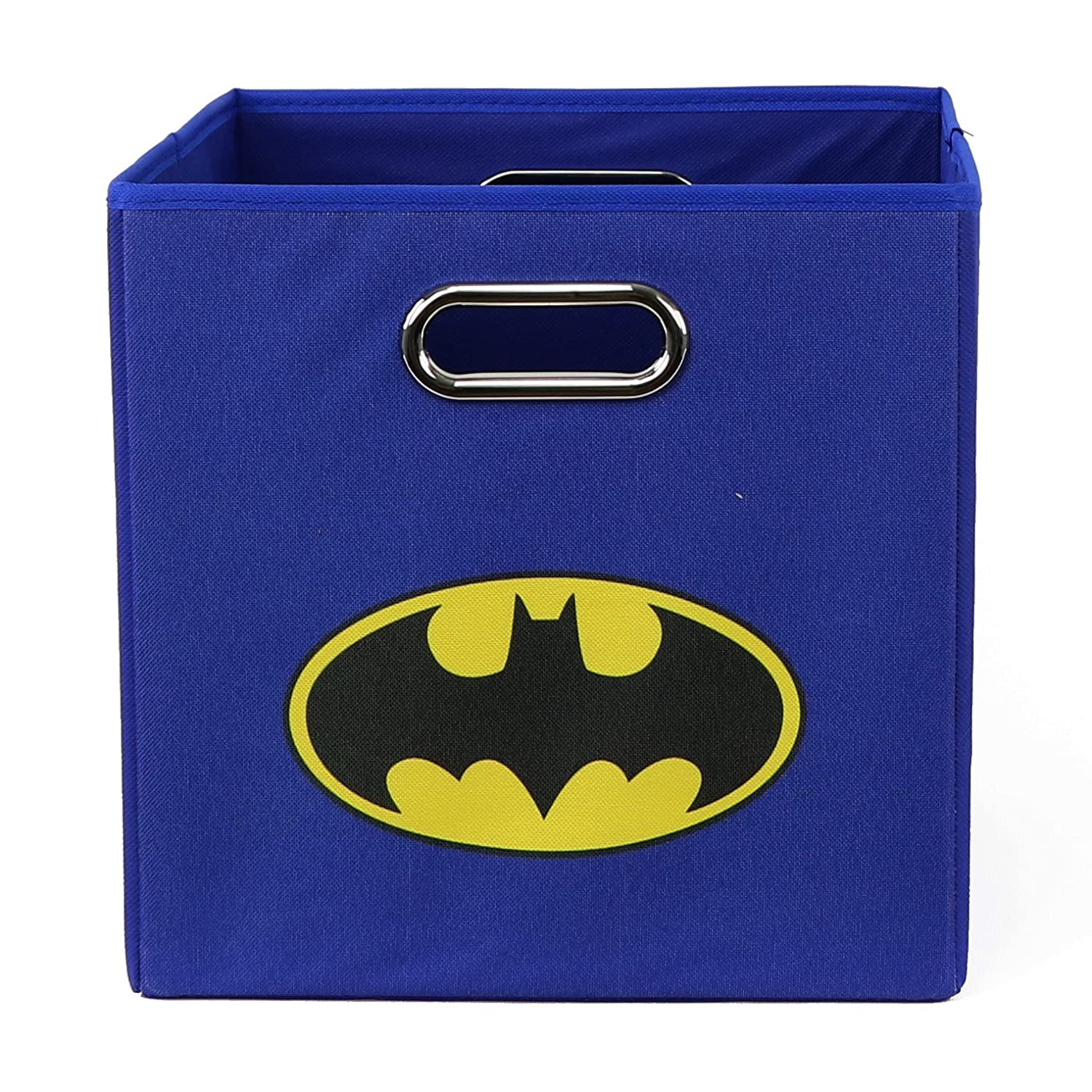 Batman Folding Storage Basket, Blue - Collapsible Storage Bin for Toys - Bedroom Organizer - Foldable Bin with Large Capacity. Kid's Room Decor
