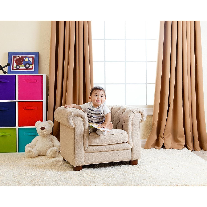 Amazon Abbyson Living RJ Kids Mini Fabric Chesterfield Club