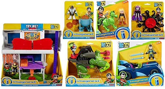 Amazon.com: Juego de 6 tartas de titanio Imaginext Go Tower ...