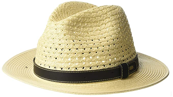 178da9adaf1 Scala Men's Paper Braid Safari Hat with Faux-Leather Band at Amazon Men's  Clothing store: