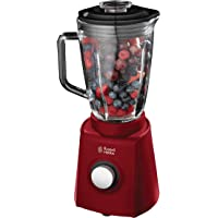 Russell Hobbs 18996-56 Glas-Standmixer Desire, Impuls-/Ice-Crush-Funktion, 0.8 PS-Motor, 26000 U/min, 1.5l, rot