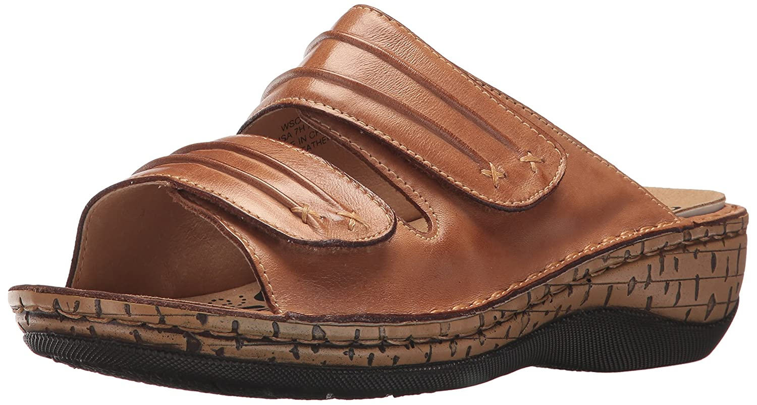 Propet Women's June Slide Sandal B072JKJ284 8.5 XW US|Tan