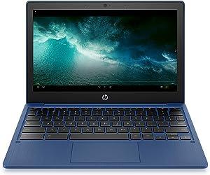 HP Chromebook 11-inch Laptop - MediaTek - MT8183 - 4 GB RAM - 32 GB eMMC Storage - 11.6-inch HD Display - with Chrome OS - (11a-na0030nr, 2020 Model, Indigo Blue)