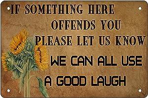 AntSwegg Metal Tin Sign Funny Sarcastic Wall Decor Man Cave Bar A Good Laugh 8x12 Inch