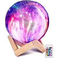 Laelr Moon lamp, 16 kleuren ED RGB maanlicht draagbaar nachtlampje met Touch Control USB oplaadbare LED nachtlamp Touch…