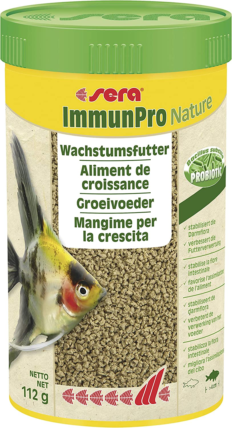 Sera ImmunPro for All Fish from 4 cm in The Aquarium - Fish Food or granules with probiotics for Fast Growth, Strong Development and Brilliant Colour Embossing