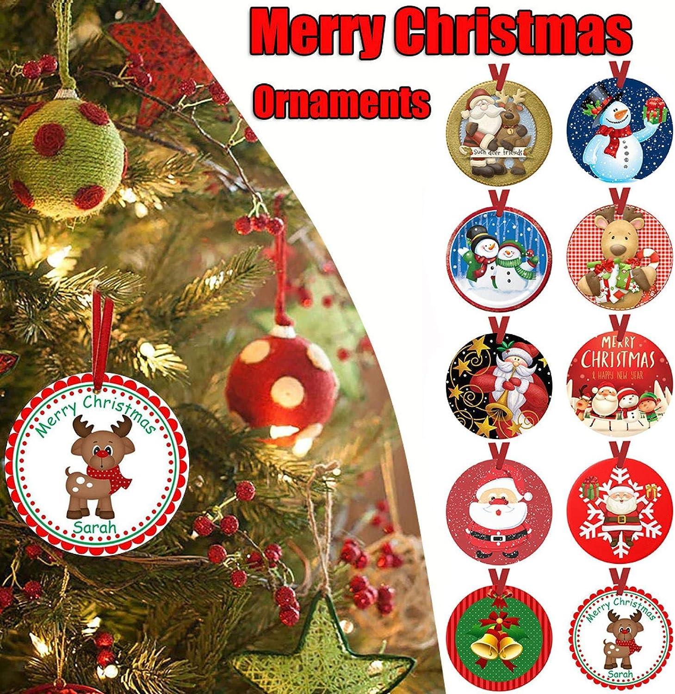 Wood Xmas Tree Ornament Hanging Pendant Christmas Decor YW