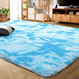 LOCHAS Luxury Velvet Shag Area Rug Modern Indoor Fluffy Rugs, Extra Comfy and Soft Carpet, Abstract Accent Rugs for…