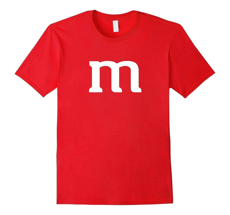Letter M Monogram Alphabet Funny Candy T-Shirt-T-Shirt