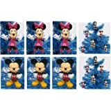 Mickey Mouse and Minnie Mouse Holiday Christmas Tree Ornament Set - Unique Shatterproof Plastic Design