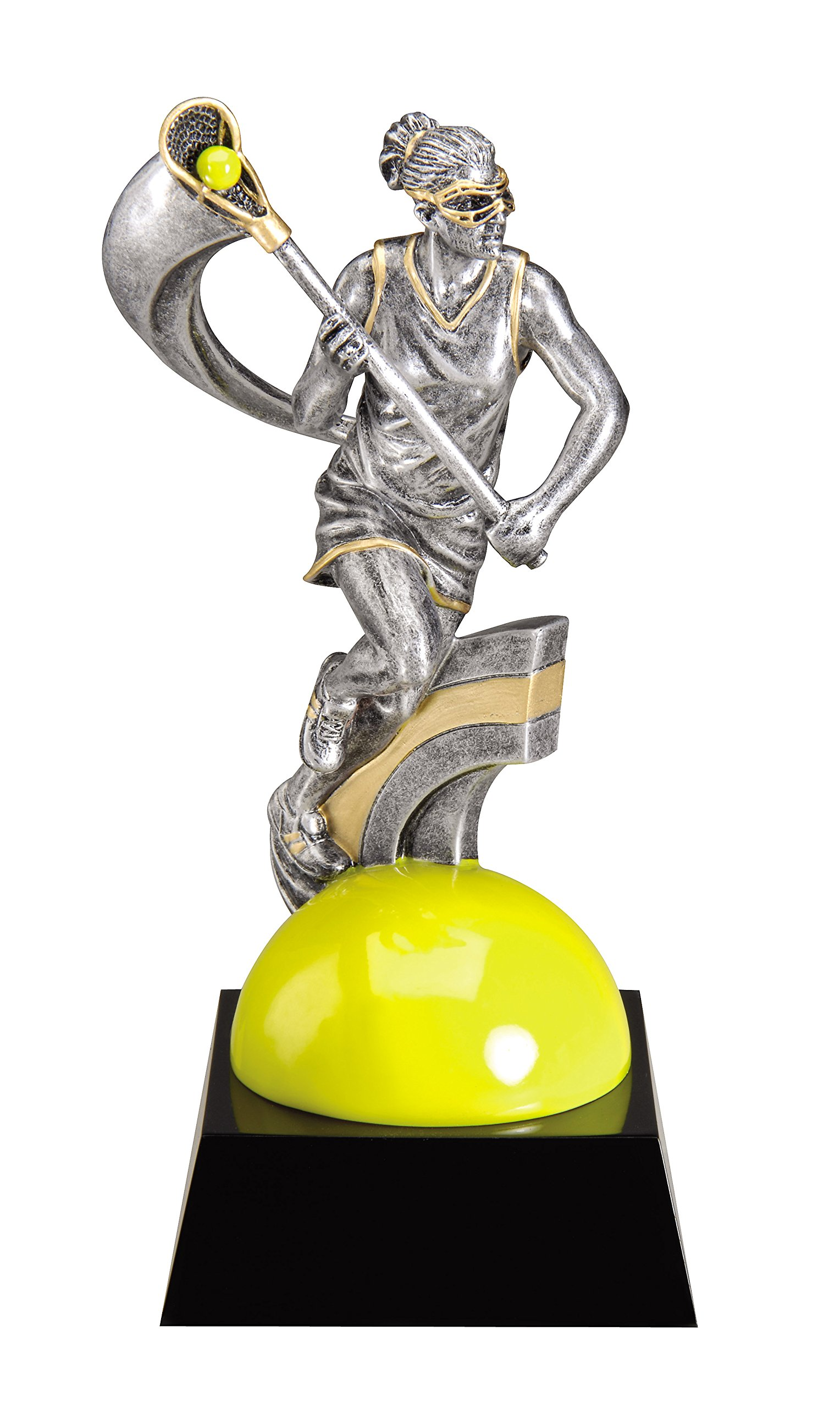 Etch Workz Resin Design Customize Award - MX738 Series Motion Xtreme Female Lacrosse Resin Trophy - Engraved Gold Plated & Personalized Free