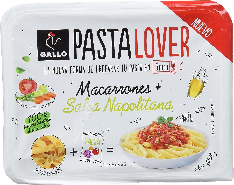 Gallo Pastalover Macarrones Napolitana - 180g: Amazon.es ...