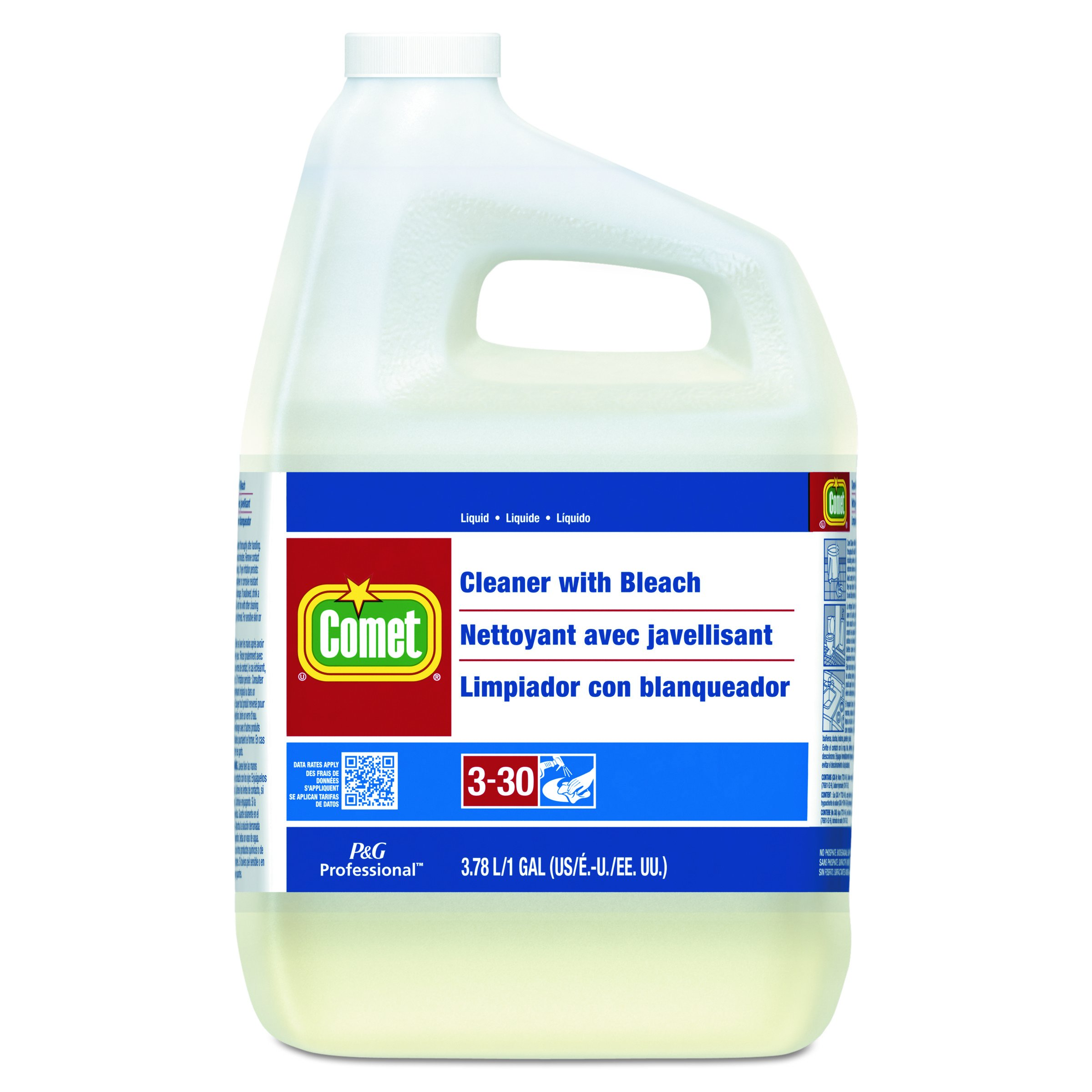 Comet Professional Cleaner with Bleach, 1 Gallon (Case of 3) by Comet® Professional (Image #1)