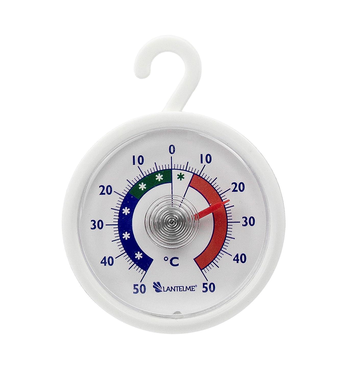 Conjunto termómetro 5 pcs. Nevera - congelador - termómetro redondo con gancho para colgar, analógica y bimetálicas. Termómetro digital para nevera juego de fabricación alemana Thermometerwelt