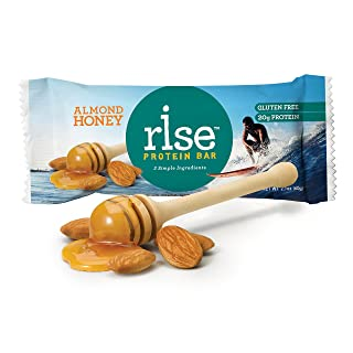 Rise Bar Real Food Protein Bar, Gluten-Free, Almond Honey 2.1oz,