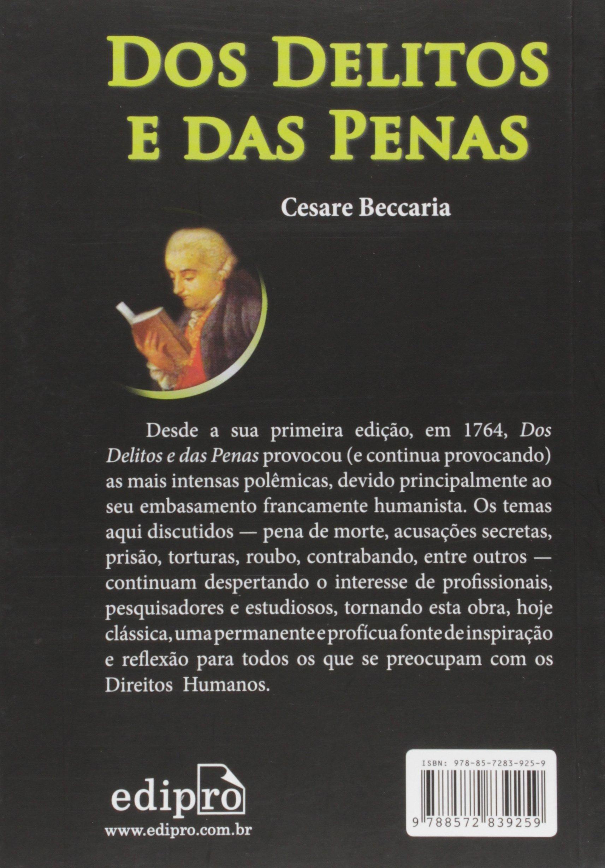 livro dos delitos e das penas cesare beccaria