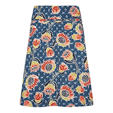 5157fd62d9 Weird Fish Malmo Printed Jersey Skirt Dark Navy Size 20: Amazon.co ...