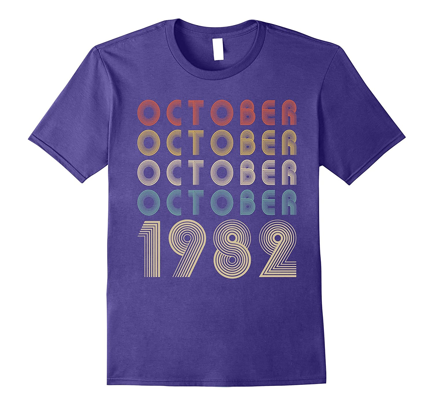 Retro Classic Vintage OCTOBER 1982 - 35th Gift 35 Years Old-FL