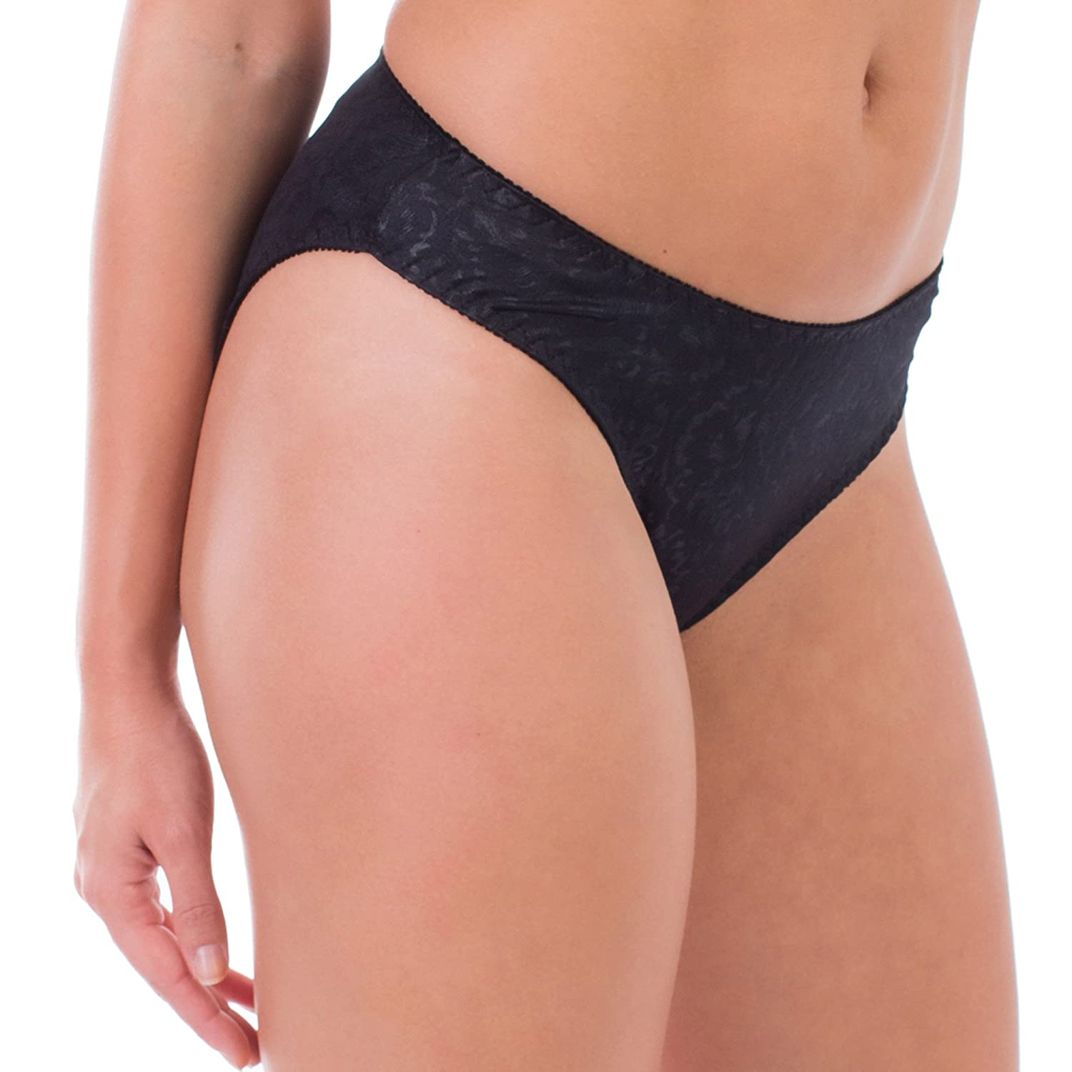 Women's comfortable full coverage bikini panty, Black, M