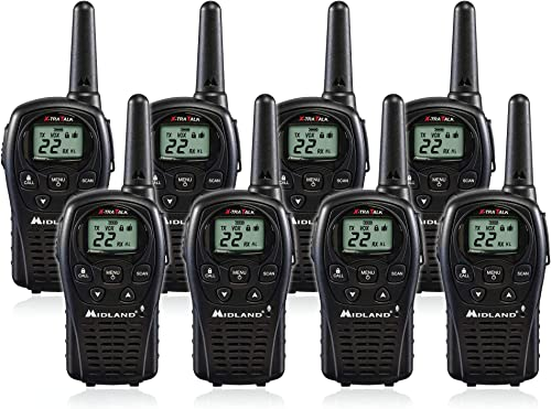 Midland LXT500VP3 2 Way Radio 8 PACK Plus Rechargeable Batteries and Charger
