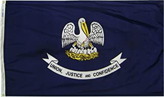 product image for Annin Flagmakers Model 142160 Louisiana State Flag 3x5 ft. Nylon SolarGuard Nyl-Glo 100% Made in USA to Official State Design Specifications.