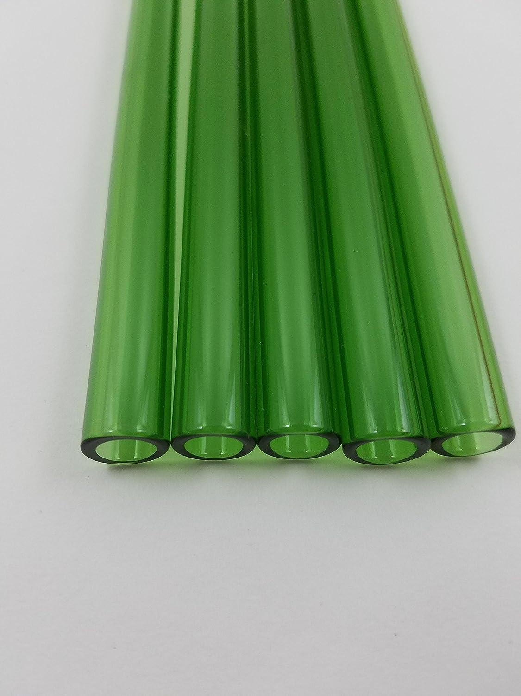 Borosilicate Glass Blowing Tubing Green Tubes 6 inch 5 Piece 12 mm OD Thick Wall Boro Glass Coe 33
