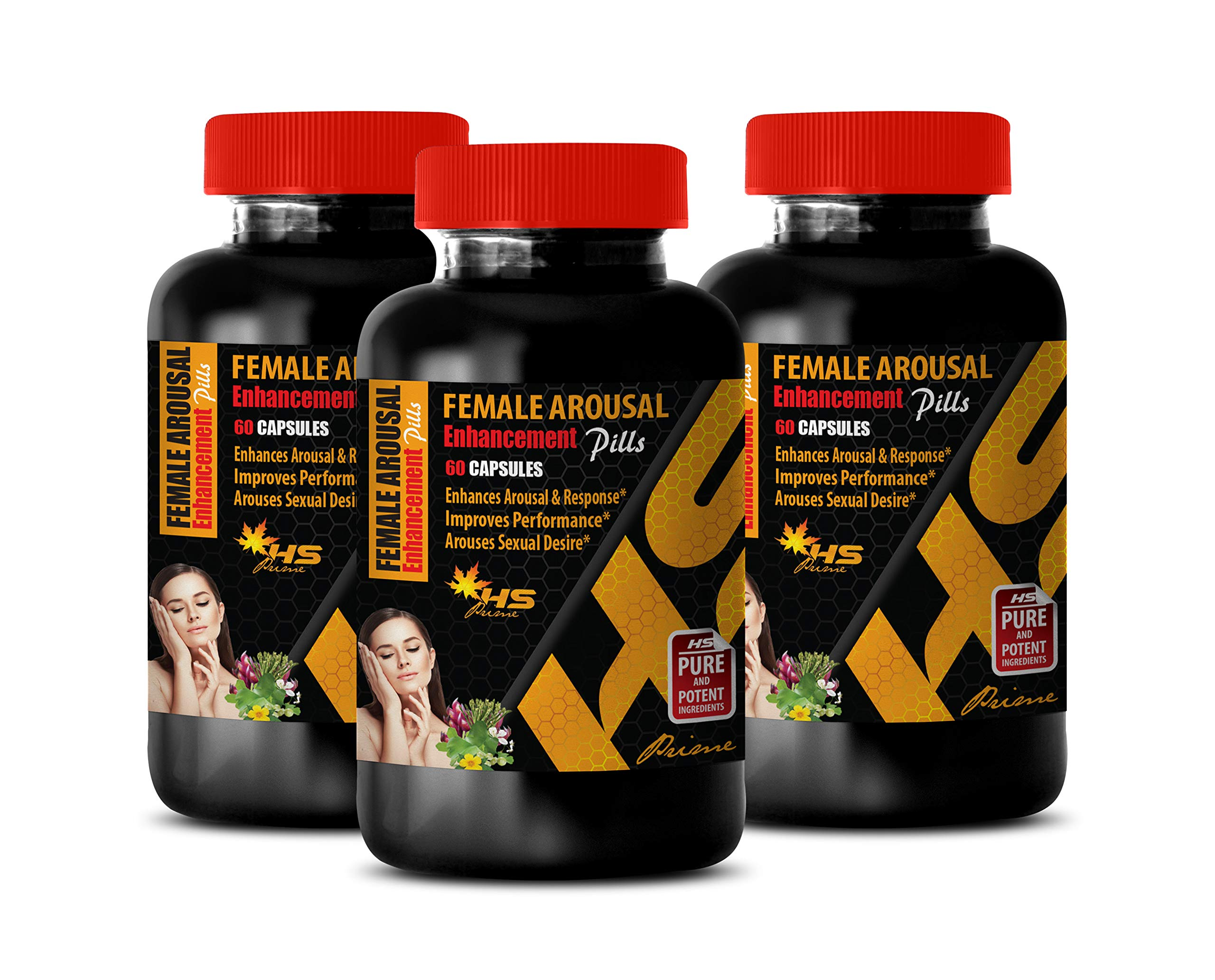 Steel libido for Women - Female Arousal Enhancement Pills - AROUSES Sexual Desire - mucuna pruriens Velvet Bean - 3 Bottles 180 Capsules