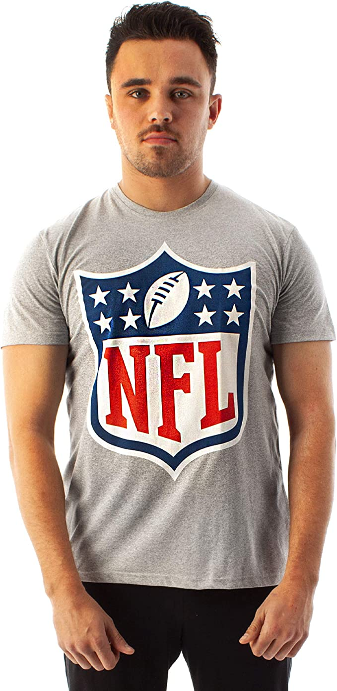 NFL Shield Logo Camiseta de Manga Corta para Hombre, Juego de fútbol Americano, : Amazon.es: Ropa y accesorios